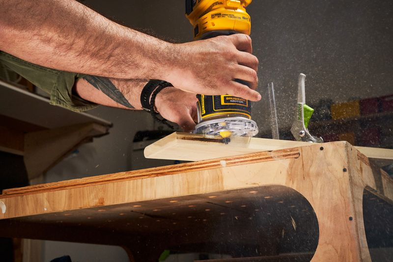Fall 2021 Tool Lab, compact router in use