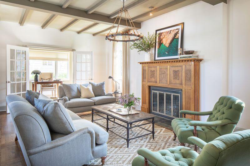 Fall 2021 House Tour, Tudor Revival living room