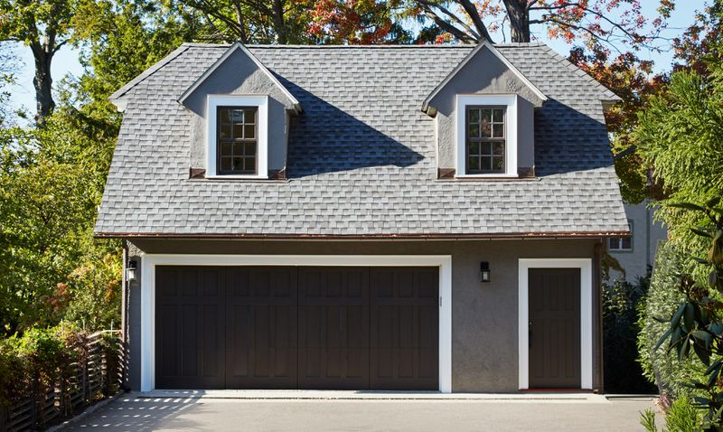 Fall 2021 Before & After Garage, garage exterior