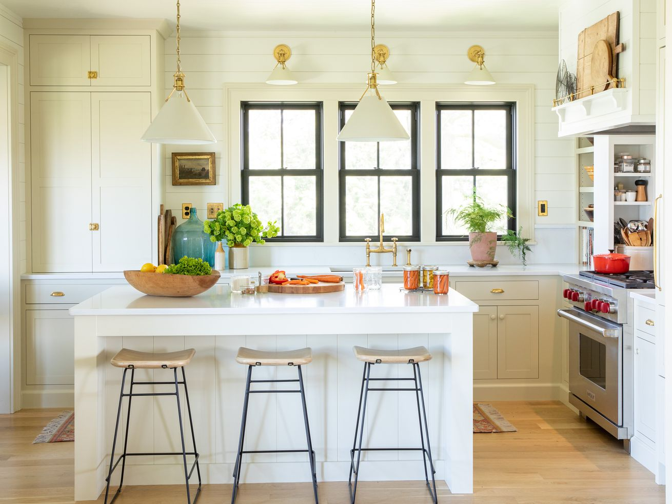 Fall 2021 Before & After Kitchen, kitchen island view