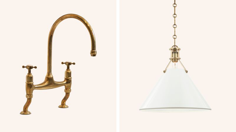 Fall 2021 Before & After Kitchen, faucet, lighting