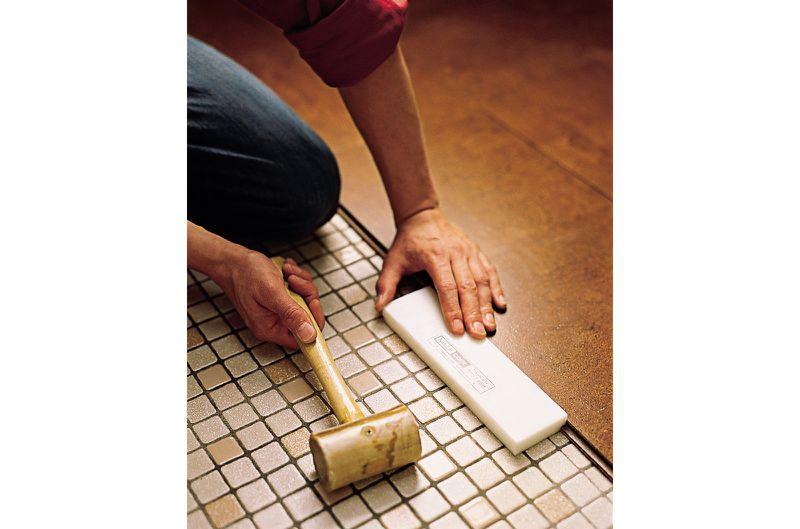 Oct 2006 Handbook: cork floor, step6