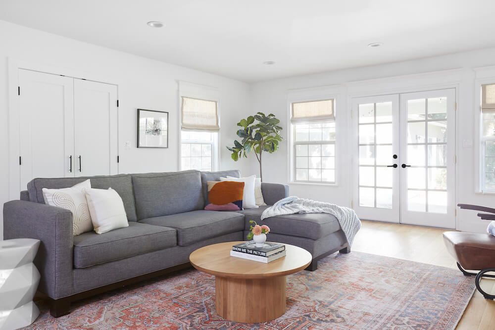 Image of a modern living room renovation for Jaime Ray Newman