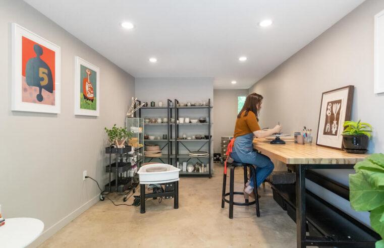 A Garage Remodel Turns Art Studio  in Connecticut