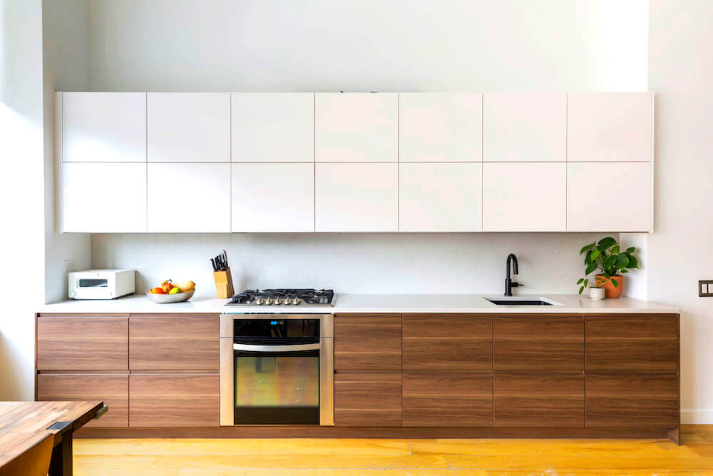 wooden slab front kitchen cabinet door designs